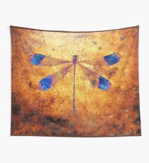Dragonfly in Amber Tapestry