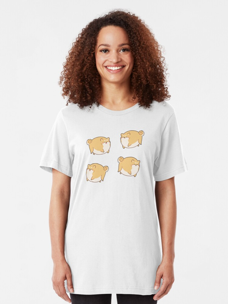 Alternate view of Round Shibes ! Slim Fit T-Shirt