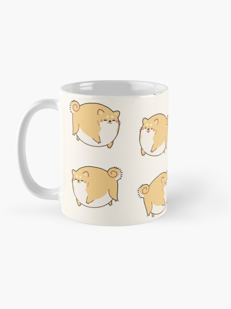 Alternate view of Round Shibes ! Mug