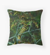 Monarch Butterfly Larva Throw Pillow