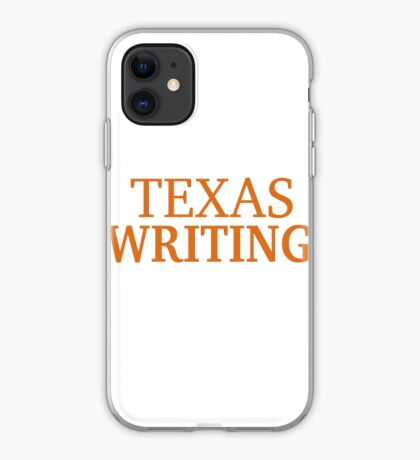Texas Writing iPhone Case