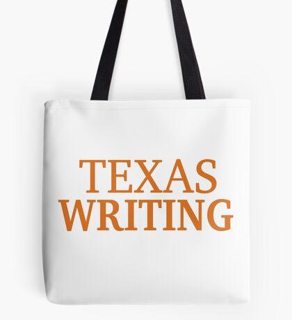 Texas Writing Tote Bag