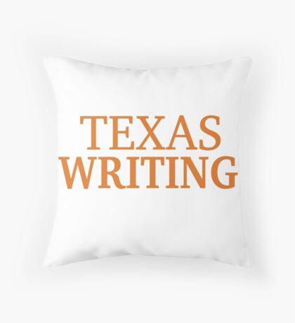 Texas Writing Throw Pillow