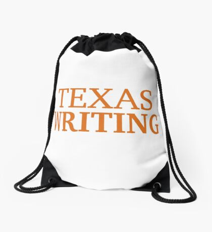 Texas Writing Drawstring Bag