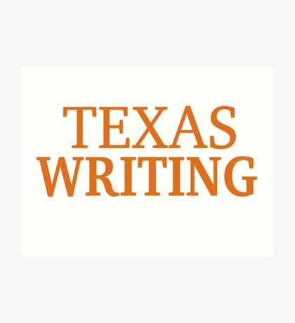 Texas Writing Art Print