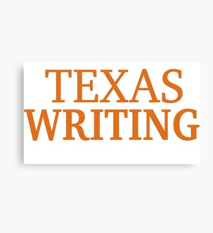 Texas Writing Canvas Print