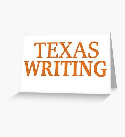 Texas Writing Greeting Card