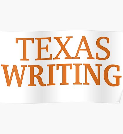 Texas Writing Poster