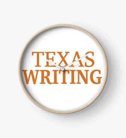 Texas Writing Clock