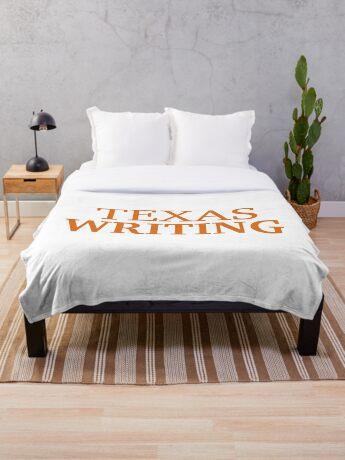 Texas Writing Throw Blanket