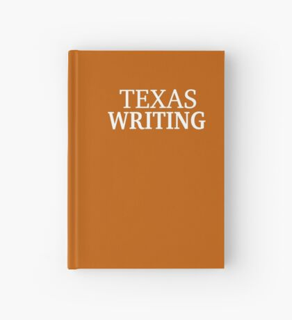 Texas Writing with White Text Hardcover Journal