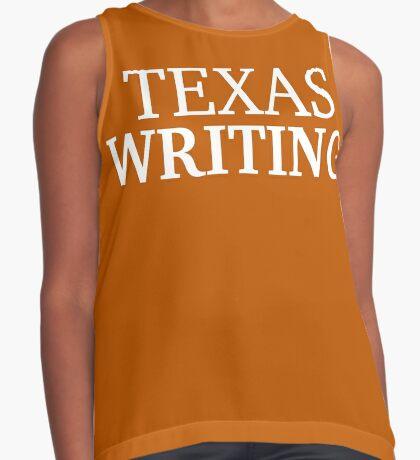 Texas Writing with White Text Sleeveless Top