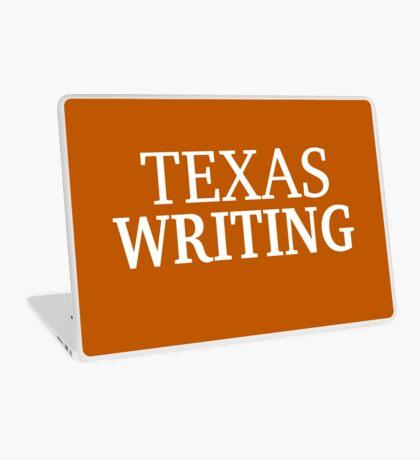 Texas Writing with White Text Laptop Skin