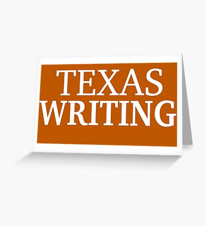 Texas Writing with White Text Greeting Card