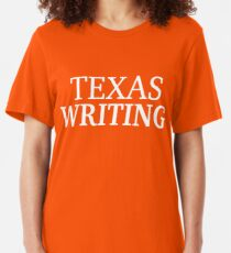 Texas Writing with White Text Slim Fit T-Shirt