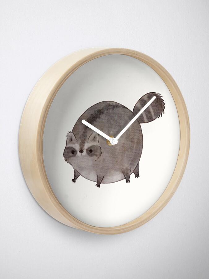 Alternate view of Chubby Trash Panda Clock
