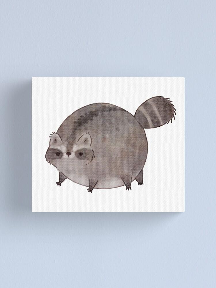 Alternate view of Chubby Trash Panda Canvas Print