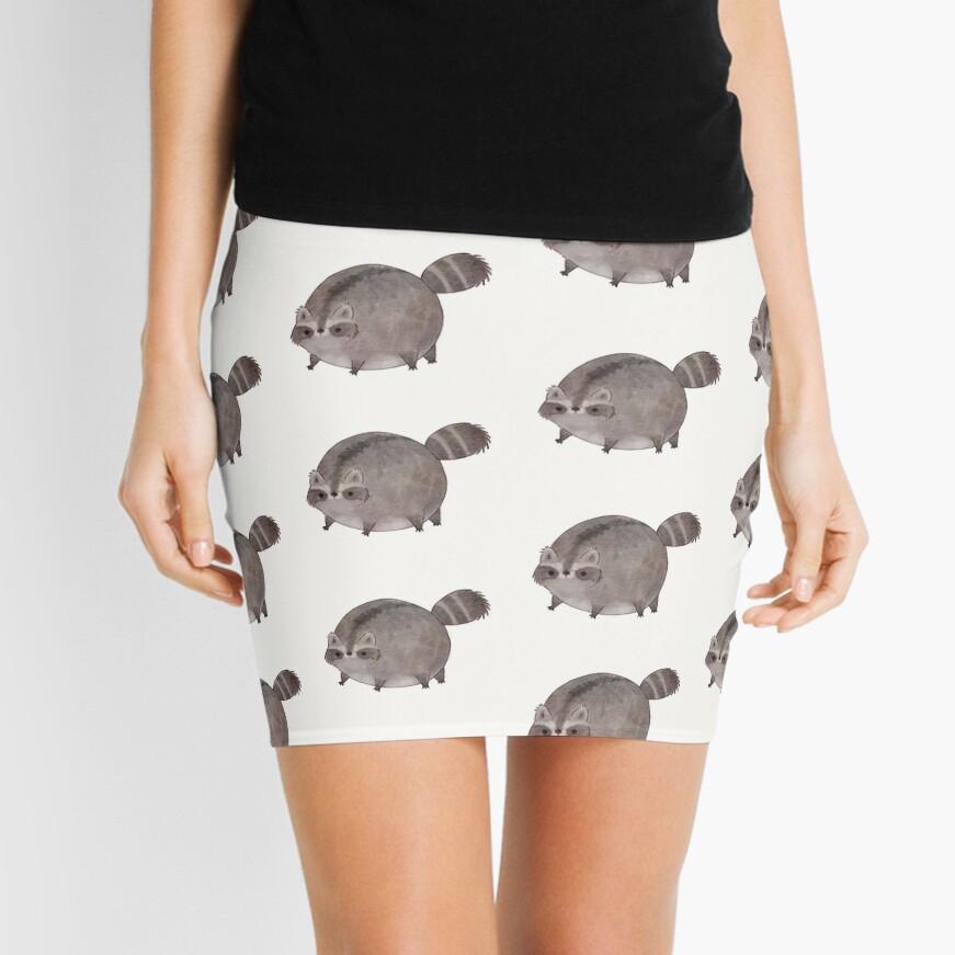 Chubby Trash Panda Mini Skirt