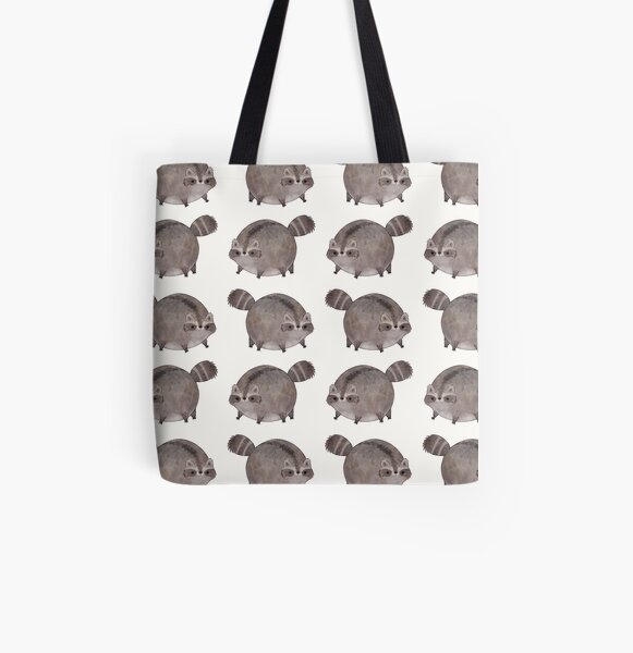 Chubby Trash Panda All Over Print Tote Bag