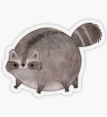 Chubby Trash Panda Transparent Sticker