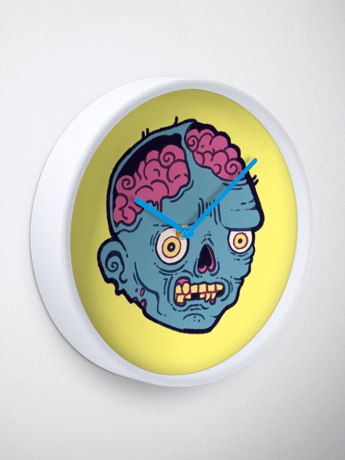 Alternate view of Zombie Brains - I bite Clock
