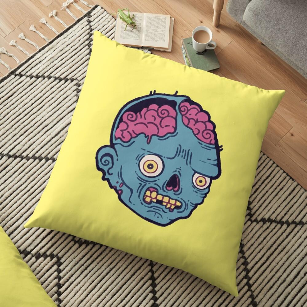 Zombie Brains - I bite Floor Pillow