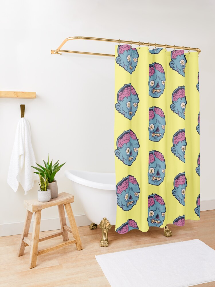 Alternate view of Zombie Brains - I bite Shower Curtain