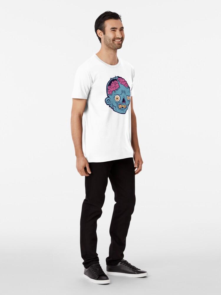 Alternate view of Zombie Brains - I bite Premium T-Shirt