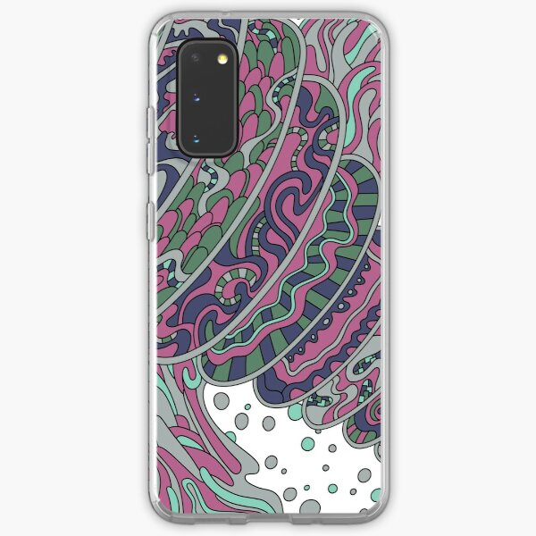 Wandering Abstract Line Art 11: Pink Samsung Galaxy Soft Case