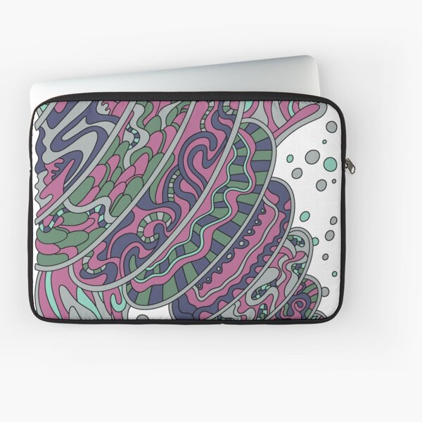 Wandering Abstract Line Art 11: Pink Laptop Sleeve