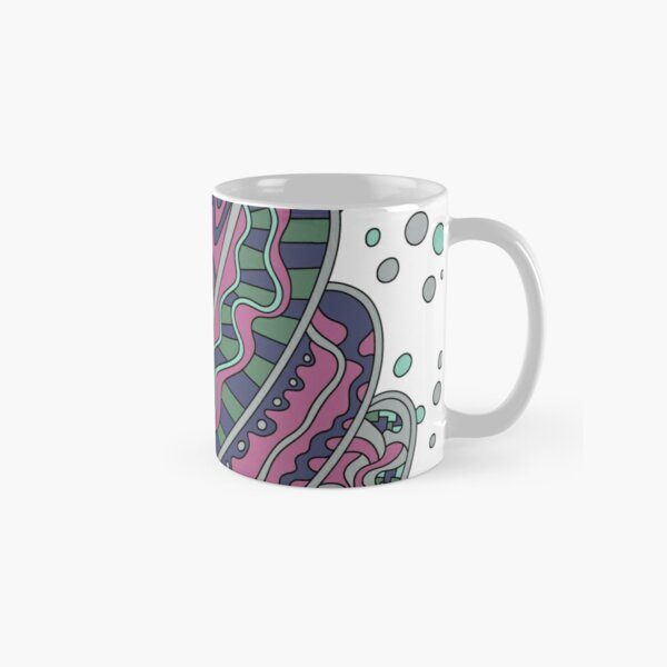 Wandering Abstract Line Art 11: Pink Classic Mug