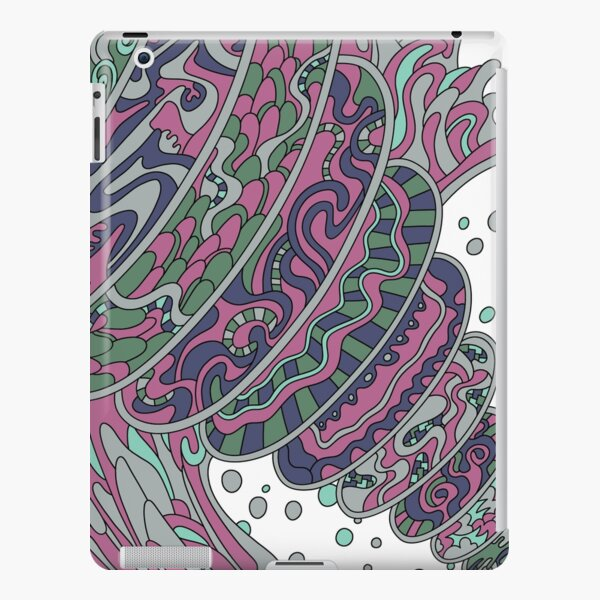 Wandering Abstract Line Art 11: Pink iPad Snap Case