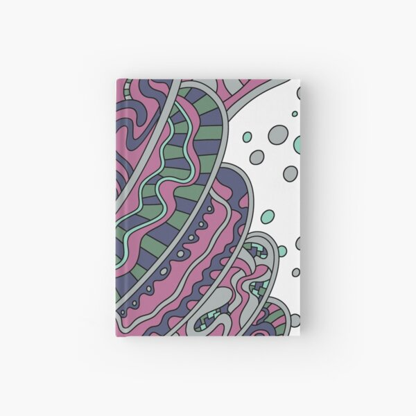 Wandering Abstract Line Art 11: Pink Hardcover Journal