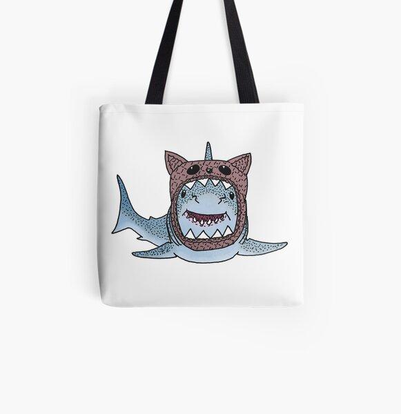 CatShark All Over Print Tote Bag