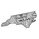 North Carolina State Gekritzel von Corey Paige Designs