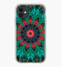 All Together Now Colorful Mandala - In Teal Green Red and Blue - Abstract Art iPhone Case