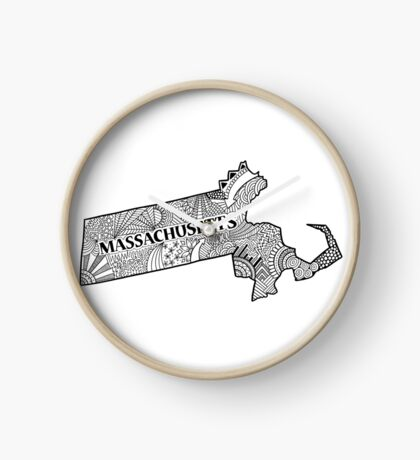 Massachusetts State Doodle Uhr