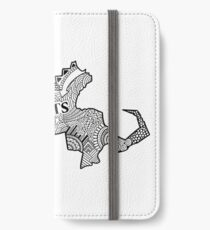 Massachusetts State Doodle iPhone Flip-Case/Hülle/Klebefolie