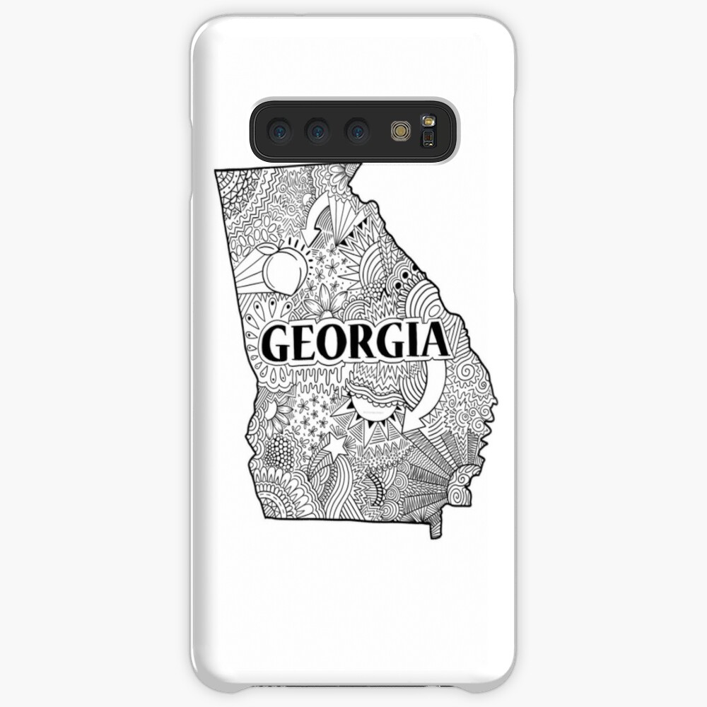 Georgia State Doodle Hülle & Klebefolie für Samsung Galaxy