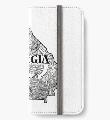 Georgia State Doodle iPhone Flip-Case