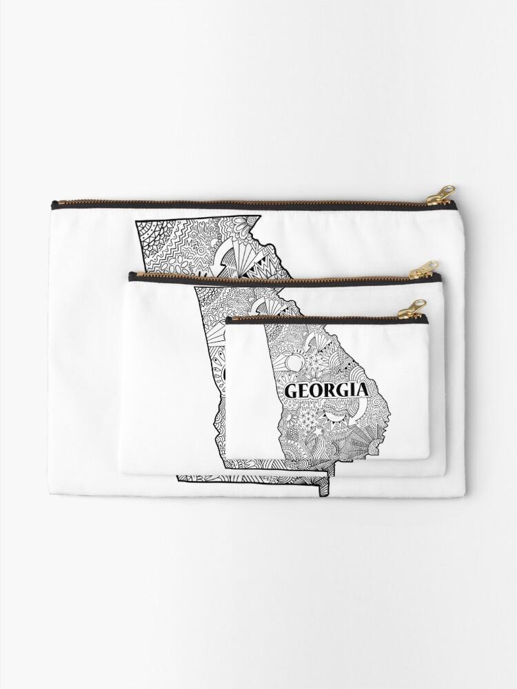 Alternative Ansicht von Georgia State Doodle Täschchen