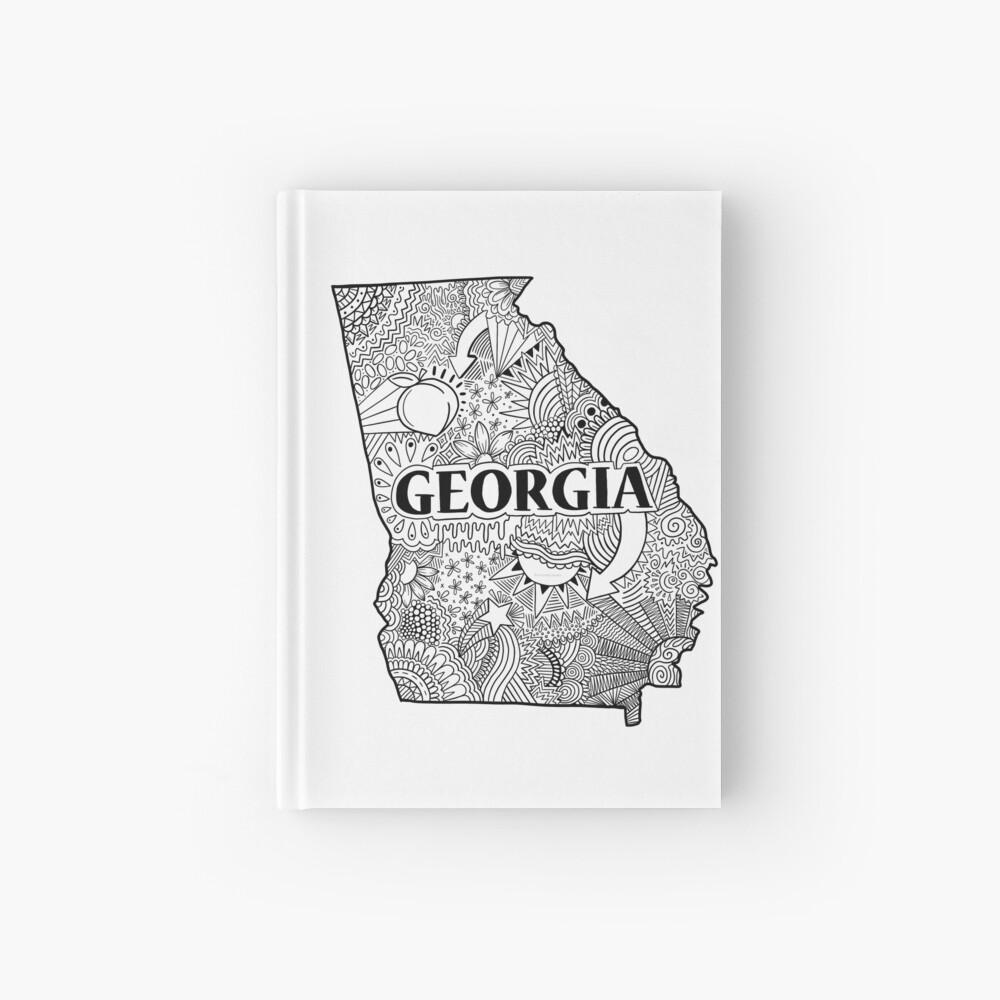Georgia State Doodle Notizbuch