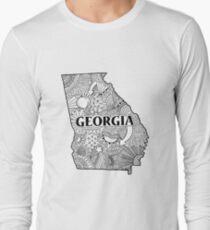 Georgia State Doodle Langarmshirt