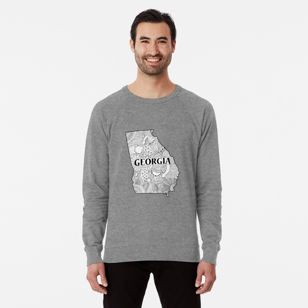 Georgia State Doodle Leichter Pullover
