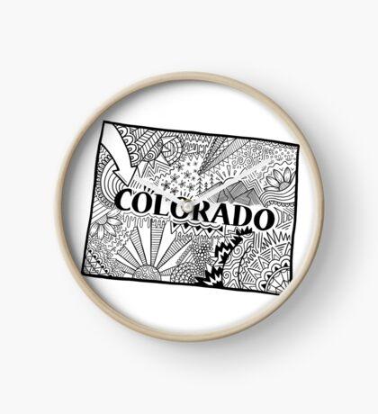 Colorado State Doodle Uhr