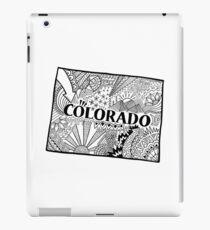 Colorado State Doodle iPad-Hülle & Klebefolie