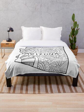 Arizona State Doodle Fleecedecke