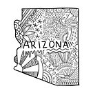 Arizona State Doodle von Corey Paige Designs
