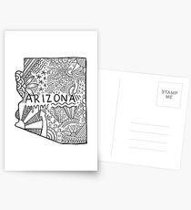 Arizona State Doodle Postkarten
