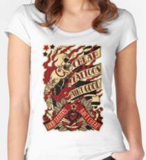 Informative Signs - Cheap tattoo aint good Women's Fitted Scoop T-Shirt